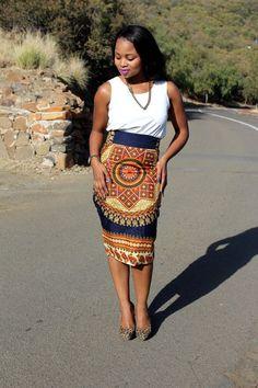 SALE African Print Pencil Skirt African Print by MdyAfricanDesigns African Print Pencil Skirt, African Print Dresses, African Fashion Dresses, African Dress, African Prints, African Inspired Fashion, African Print Fashion, Africa Fashion, Ethnic Fashion