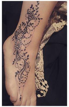 Feminine Tattoos, Sexy Tattoos, Body Art Tattoos, Girl Tattoos, Sleeve Tattoos, Ladies Tattoos, Paw Tattoos, Tattoo Designs Foot, Lace Tattoo Design