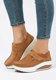 Mocasini piele naturala Justina Camel Mary Janes, Wedges, Sneakers, Shoes, Fashion, Tennis, Moda, Slippers, Zapatos