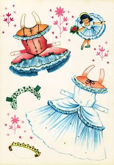 More Little Ballerina Paper Dolls