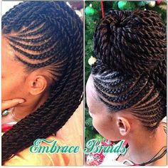black hairstyles | box braids | box braid updo | braided black hairstyles | black updo hairstyle   http://www.hairstylo.com/2015/07/black-hairstyles.html