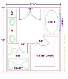 master bath floor plans with dimensions bathroom design 10x16 rh pinterest com