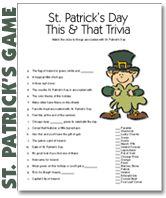 Printable St. Patricks Day Party Games St Patricks Day Spiele, St. Patricks Day, Saint Patricks, Crafts For Seniors, Easy Crafts For Kids, St Patrick's Day Trivia, St Patrick's Day Games, Senior Activities, Exercise Activities