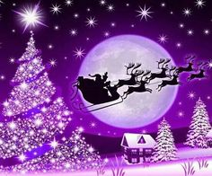 Purple Christmas Merry Christmas /Happy Winter/Summer Solstice!!!! QJ