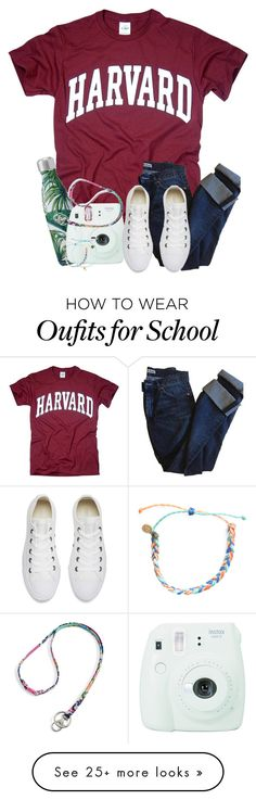 """OOOTD : We just lost a game to our school rivals . . ."" by meinersk45195 on Polyvore featuring Fujifilm, Vera Bradley, Acne Studios, Converse and Pura Vida"