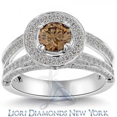 2.53 Carat Natural Fancy Chocolate Brown Diamond Engagement Ring 14k White Gold - Fancy Color Engagement Rings - Engagement - Lioridiamonds.com