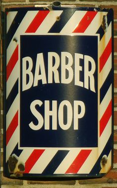 The Main Street Barber Shop is a great place for baby's first haircut. Victory Rolls, Main Street Barber Shop, Baby's First Haircut, Shaved Hair Cuts, Barber Shop Quartet, Master Barber, Barbershop Design, Photo Vintage, Old Signs