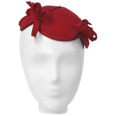 84640427f6a 30s Red Felt Hat w  Bows