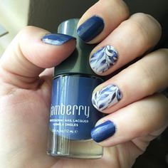 Feeling the blue mani...pairing 'Blue Suede Shoes' lacquer with 'Copenhagen'…