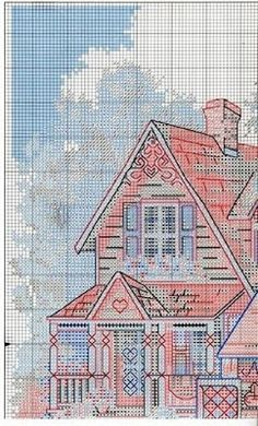 FREE Cross Stitch: Houses---PG 5 OF 6---COUNTRY HOME