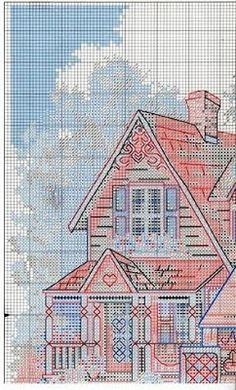 Punto de Cruz GRATIS: Casas