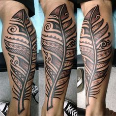 Feather Tribal Tattoo For Men                                                                                                                                                                                 Más