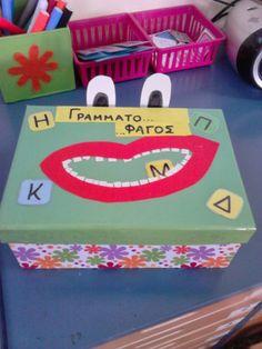 Το μαγικό κουτί της...Κατερίνας: Ο Γραμματο...φάγος του χειμώνα και χειμωνιάτικα… Language Activities, Preschool Activities, Alphabet, Learn Greek, Kids Homework, Phonological Awareness, Preschool Education, Classroom Games, Kids Corner