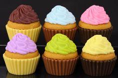 Set Of 6 Cupcake Erasers