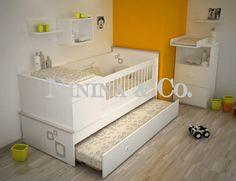 cuna funcional modena Baby Bedroom, Nursery Room, Kids Bedroom, Toddler Bunk Beds, Kid Beds, Bebe Baby, Baby Album, Baby Cribs, Baby Decor
