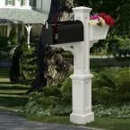 Westbrook Plus Plastic Mailbox Post, White
