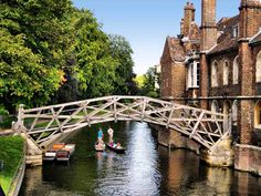 Cambridge, Laura took Roy and I there when we went to England and France in 1990-91.  This is called the Mathematical Bridge.  I took a picture of this and have it in my album.  I loved Cambridge, and Christ College was awesome too.