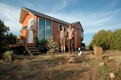 Arizona couple moves into tiny tiny home — They've gone from paying $1,500 monthly mortgage to $350 a month INCLUDING utilities   Carrie and Shane Caverly ditched a traditional living space for this tiny, 204-square-foot home.