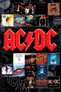 Poster AC/DC - Album Covers - Affiches des Couvertures d'Albums- Rock A Gogo - www.rockagogo.com