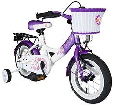 Kids' Bicycles - Bikestar 12 inch 305 cm Kids Childrens Girls Bike Bicycle Classic  Lilac  White >>> Find out more about the great product at the image link.