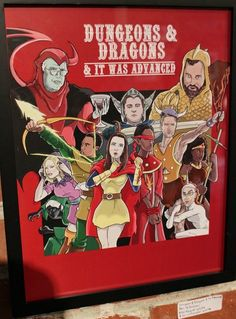 Community: Dungeons and Dragons and It Was Advanced by Ben Deguzman - Anime Characters Epic fails and comic Marvel Univerce Characters image ideas tips Dungeons And Dragons Cartoon, Advanced Dungeons And Dragons, Community Tv Show, Community Art, Community College, Community Series, Vanellope Von Schweetz, Geek Art, Costumes