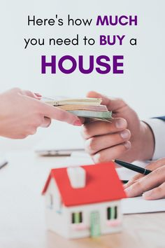 How much money you need to buy a house depends on whether you're using an FHA loan, or convential loan. The down payment is biggest cost of buying a house. Home Selling Tips, Home Buying Tips, Buying Your First Home, Money Saving Tips, Money Tips, Cash Now, Special Needs Mom, Mortgage Tips, Need Money