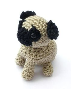 If you're a dog lover you will surely have fun making your own cute Pug with this easy pug crochet pattern. The printable PDF file is also available in my Etsy shop.