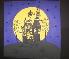 Spooky Moon Lit House by Paintbrush Rocket, via Flickr