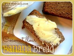 Coconut Flour Banana Bread - Gluten Free, Grain Free, Paleo --- This is super moist & very delicious! I used butter & - cup xylitol instead of stevia. Coconut Flour Banana Bread, Coconut Flour Recipes, Gluten Free Banana Bread, Best Banana Bread, Gluten Free Baking, Almond Flour, Coconut Oil, Banan Bread, Tigernut Flour