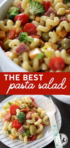 This is the BEST Pasta Salad recipe! It's perfect for any occasion especially summer celebrations! #pastasalad #recipe #appetizer #summer #pasta #noodles #macaronisalad  via @inspiredbycharm