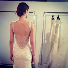 Breathtaking back. Gown by Kenneth Pool