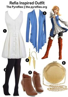 Casual cosplay of Refia (from Final Fantasy III video game series)-- character inspired outfit