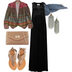 Tribal look hijab by strawberrymuslimah on Polyvore featuring Maison Margiela, Rebecca Minkoff, Cocobelle, ALDO, Cara Couture, Nicole Farhi, hijab, tribal and modest