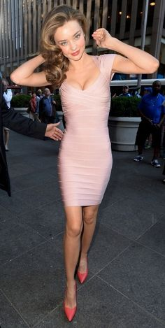 M.K. With a Mini Pink- I have this dress only in periwinkle blue!  (See, I do know my 66 crayola colors!)