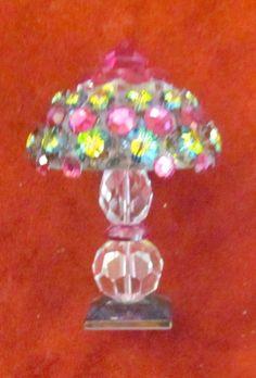 Swarovski Tiffany Lamp Iris Arc miniature lamp crystal❤❤❤