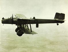 Last of Britain's biplanes Handley Page Heyford unusually had fuselage & upper wing directly attached to one another while lower wing's thickened midsection's bomb bay capable of a 2500lb/1134kg load.Open crew compartments & fabric covered wings & aft fuselage belie modern metal monocoque forward fuselage & metal wing.Defensive armament not overly intimidating with 3 .303 Lewis machine gun positions but best defensive strategy was in flying missions at night at up to 142mph/229 km/h.