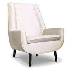 "Modern Furniture | Mr. Godfrey Side Chair | Jonathan Adler  • 29"" wide x 36"" high x 30"" deep  • arm height 20.5"", seat height 16.5"", seat depth 20""  (starting at $1895)"