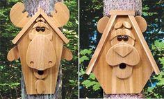 19-W3069 - Birdhouse Creatures IV Woodworking Plan