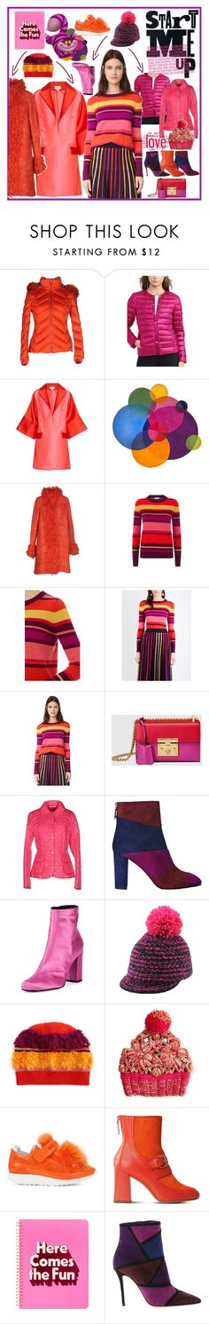 """Big, Bold Stripes of Rooster 2017"" by yours-styling-best-friend ❤ liked on Polyvore featuring VDP, Lauren Ralph Lauren, Antonio Berardi, Missoni, Temperley London, Gucci, Husky, L.K.Bennett, Yves Saint Laurent and Pierre Hardy"