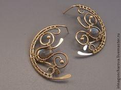 Awesome post earrings! Серьги ручной работы. Ярмарка Мастеров - ручная работа Серьги Луна. Handmade.