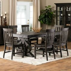 Hacienda Dining Collection | Distressed Dining Room Set Home  Decor+Rustic+Dining+Traditional