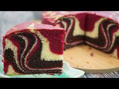 Kek Marble Red Velvet Double Coklat Yang Moist | Red Velvet Cake | MyDapur Panas - YouTube Chocolate Marble Cake, Chocolate Sweets, Bolo Red Velvet, Velvet Cake, Sweet Recipes, Cake Recipes, Fancy Desserts, Chiffon Cake, Desert Recipes