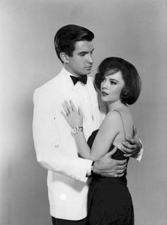 """George Hamilton, Natalie Wood, in """"All the Fine Young Cannibals"""" (1960)"""