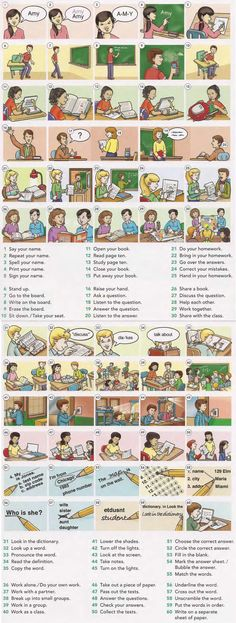 Classroom commands for a teacher