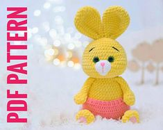 PATTERN Crochet mouse in a dress amigurumi toys pdf Crochet Bird Patterns, Crochet Bunny Pattern, Crochet Rabbit, Crochet Birds, Crochet Motifs, Crochet Patterns Amigurumi, Crochet Animals, Crochet Mouse, Amigurumi Toys