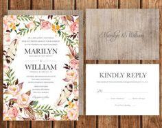 Destination Wedding Invitation Beach Tropical by BettyLuDesigns