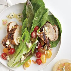Blackened Chicken Salad with Blue Cheese Vinaigrette | MyRecipes.com