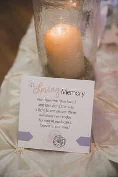 Madeline's Weddings & Events Custom Stationery - In Memory Card http://www.winnipegweddinginvitationsandstationery.com Image courtesy of http://sugarandsoulphotography.com http://www.madelinesweddings.com #Wedding #WeddingStationery #invitations #Winnipeg #WeddingPlanner