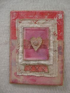 Fabric Art Heart