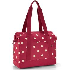 Bolso de Mano Allrounder Plus Rojo Lunares Crema Reisenthel www. Hand Luggage, Travel Luggage, Travel Bags, Tadao Ando, Travel Handbags, Tote Handbags, Desi, Cabin Bag, Mode Blog